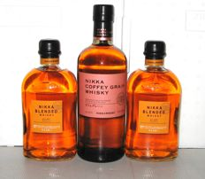 3 bottles - 2 x Nikka Blended 1 x Nikka Coffey Grain