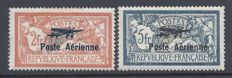 France 1927  - Airmail Marseille  - Yvert PA 1/2