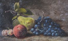 A Ramsay (19th/20th century) - A still life of fruit