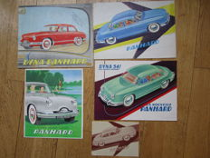 PANHARD DYNA sedan type PL lot of 5 brochures around 1950