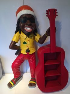 Jamaican with guitar - The Netherlands, 20th century