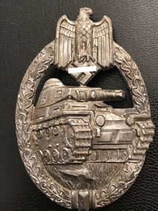 Order, Tank battle assault badge in bronze, manufacturer's mark Wurster Markneukirchen
