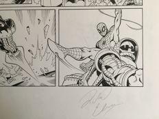 2 consecutive Original Art Pages By Richard Elson - Pen & Ink - Spider-Man : Tower Of Power #16 - Page 4 & 5 - (2008)