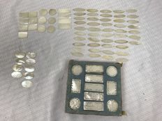 207 mother of pearl poker chips - China - mid 20th century