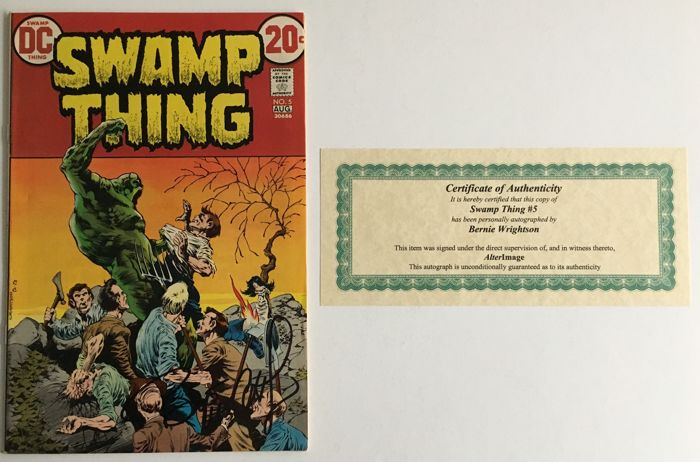 DC Comics - Swamp Thing #5 - Signed by Bernie Wrightson - Includes Certificate Of Authenticity  1x sc - (1973)