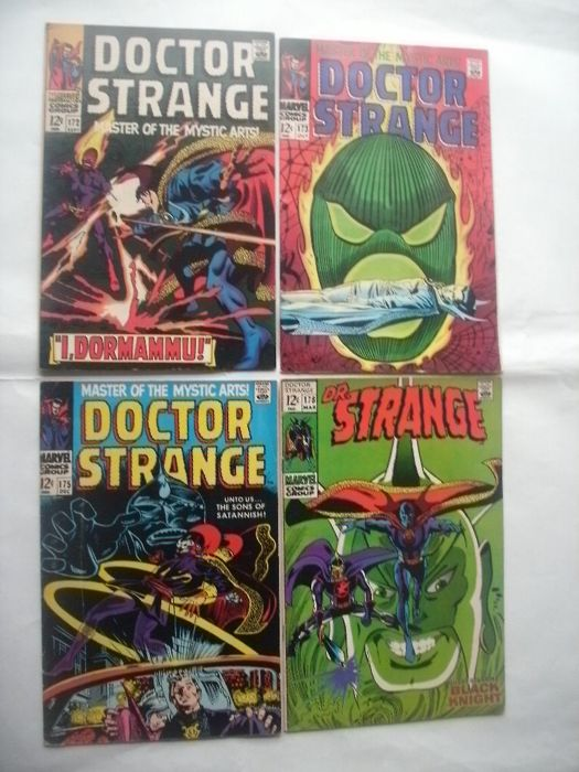 Marvel Comics Doctor Strange : Master Of The Mystic Arts #172, 173, 175 and 178 - x4 sc - (1968/1969)