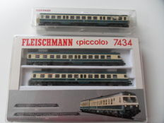 Fleischmann N - 7434/7436 - 3-piece diesel train set BR614 of the DB