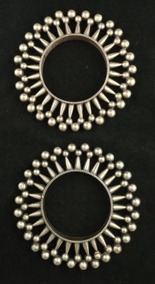 Pair of antique silver bracelets - Rajasthan (India), mid 20th century