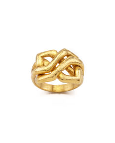 Ilias Lalaounis - Hand hammered 18K Gold Ring - Ring size: 52
