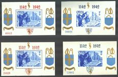 Belgium 1941/1942 – Orval blocks – OBP BL 11/12 and 18/21.