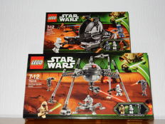 Starwars - 75015 + 75016 - Corporate Alliance Tank Droid + Homing Spider Droid