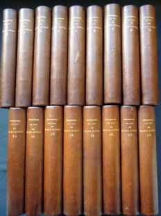 Duc de Saint Simon - Mémoires de Saint-Simon - 15 volumes - 1873/1875