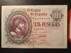 Spain - 500 and 1,000 pesetas 21st October 1940
