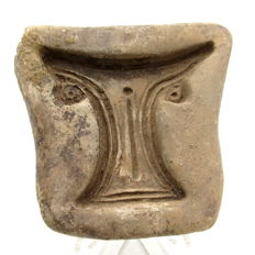 Roman Ceramic Casting Mold for a handle of a skyphos - 64 mm