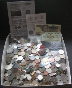 World - Lot various coins (± 1500 pieces) incl. some silver