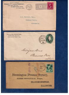 United States 1879/1899 - 30 Postal Covers, Cancelled Letters from Mostly Banks And Attorney's
