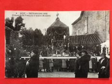 France: Lot with 16 postcards on Les ostentions (popular religious event) of Aixe sur Vienne (Haute-Vienne)