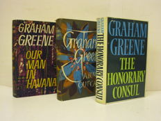 Graham Greene; Lot with 3 first editions - 1958 / 1973