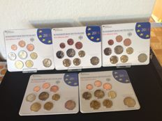 Germany - coin set 2014 A D F G J incl. 5 x 2 euro Lower Saxony