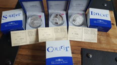 France - 1½ Euro 2003 ´World Championships in Athletics´ (3 different) - silver