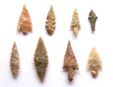 Lot with arrowheads from Niger - 20-43 mm (8)