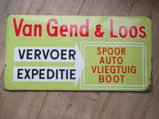 Enamel advertising sign Van Gend&Loos - Ca. 1950s