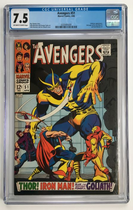 Marvel Comics - The Avengers #51 - CGC Graded 7.5 - 1x sc - (1968)