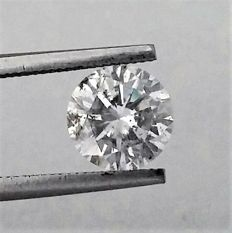 Round Brilliant Cut  - 1.63 carat - D color - SI2 clarity - 3 x EX - Big Certificate + Laser Inscription On Girdle .