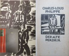 Charles-Louis Philippe: Der alte Perdrix +  Zola: Germinal with woodcuts by Masereel (1889 - 1972) first edition 1922