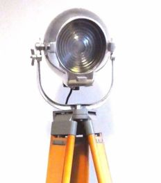 Strand Electric - Theatre Spot Lamp Floor Light  with Wood Tripod