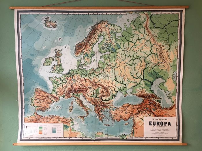 Old school map - Europe geographical 1815 - 1871 - Catawiki