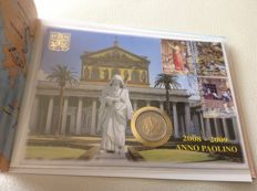 Vatican city - Numerisbrief 2 Euro 2008 ' Paulus year 2008/2009 with stamps'