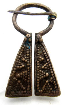 Medieval period Bronze Penannular Brooch with Decorated Terminals - WEARABLE GIFT WITH GIFT BAG - 57 mm