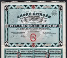 France - Societe Anonyme Andre Citroen - 1927