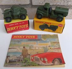 Dinky Toys - Scale 1/48 - Lot with Military Water tanker No.643, Armoured Car No.670 and Catalogue 1963