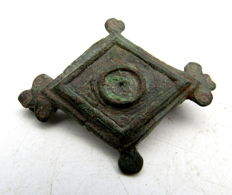 Ancient Roman Lozenge-shaped Plate Brooch  - 60 mm.