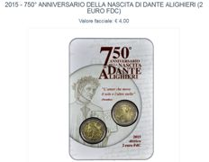 Italy - 2015/2016 coin cards, Divisional Series 2016 (with silver) 2 silver coins