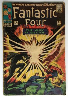 Marvel Comics - The Fantastic Four #53- Origin & 2nd appearance Black Panther - 1x sc - (1966)