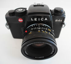 Leica R4s with Leitz Summicron-R 1:2/50 mm: dummy lens, attrappe: rare display case model, very fine