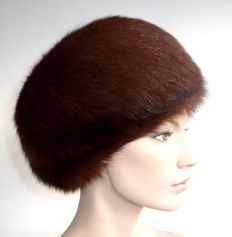 Soft beautiful fur hat, fox fur, genuine fur