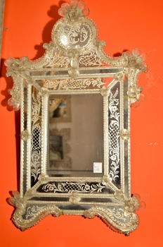 Murano glass mirror - Venice, Italy - 19th century