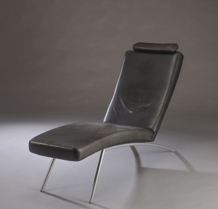 Lounge Stoel Modern.Producer Unknown Modern Design Leather Lounge Chair Chaise Longue Catawiki