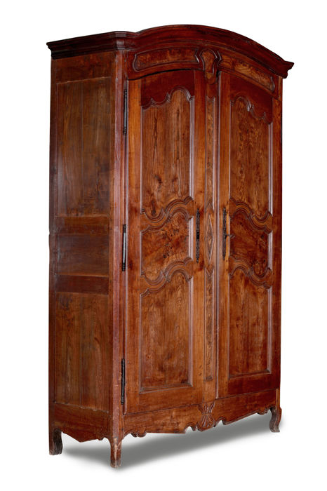 A provincial Louis XV walnut and cherry 2-door cabinet - France - second half 18th century