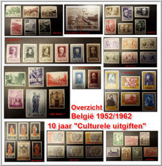 Belgium 1952/62 - Topical collection ´10 Years Cultural Emissions´