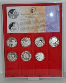 Europe - Silver official Euro collections (7 coins)