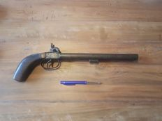 Antique double barrel pistol