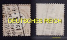German Empire 1872 - Collection small and large Schild with various marks