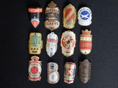Collection of 12 Nice Bicycle Head Badges, with some rare ones including - Remi Claeys and Phoenix Cycles