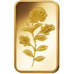 2.5 grams gold bar, Rosa, Pamp Suisse