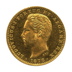 Portugal Monarchy – D. Luis I – 2.000 Réis 1876 – Gold